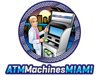 ATMMachines.MIAMI logo design