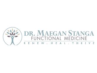 Dr. Maegan Stanga  Functional Medicine  Renew. Heal. Thrive logo design winner
