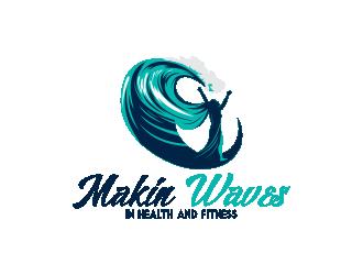 Makin Waves (in health and fitness) logo design winner