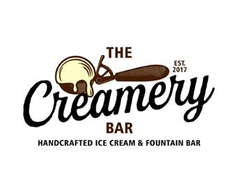 The Creamery Bar  logo design
