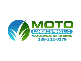 Moto Landscaping LLC  logo design