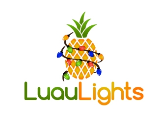 Luau Lights logo design