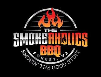 SmokeAholics BBQ   Forest, Va logo design
