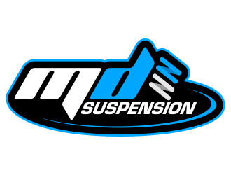 MD Suspension logo design