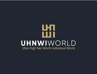 UHNWI WORLD logo design