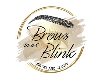 Brows in a Blink logo design