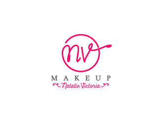 NV Makeup logo design