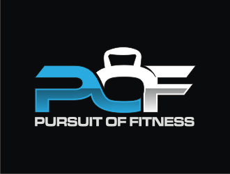 PURSUIT OF FITNESS logo design