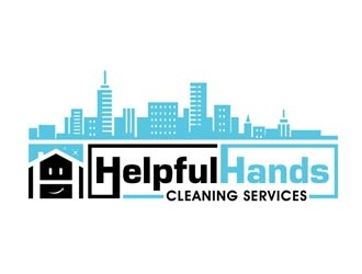 Helpful Hands Cleaning Services logo design