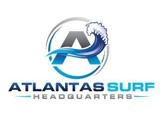 Atlantas Surf Headquarters logo design