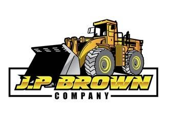 J.P Brown Company  logo design