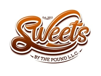 Sweets By The Pound, L.L.C. logo design