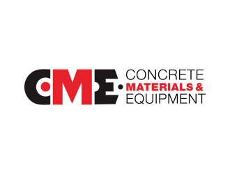 Concrete Material & Equipment logo design