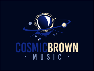 Cosmic Brown Music logo design