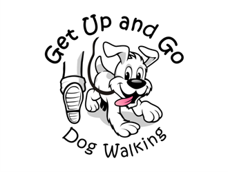 Get Up and Go Dog Walking logo design