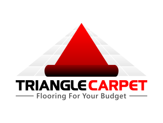 Triangle Carpet -- Flooring for your Budget logo design