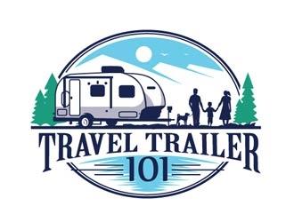 Travel Trailer 101 logo design