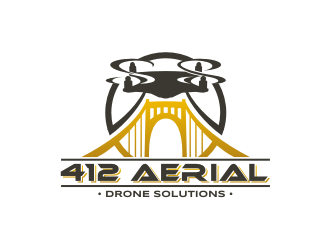 412 Aerial - Drone Solutions logo design