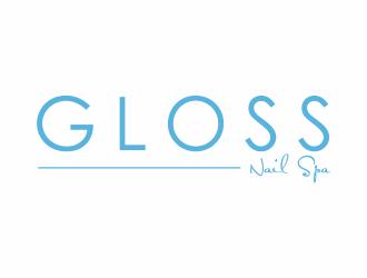 Gloss Nail Spa Logo Design 48hourslogo