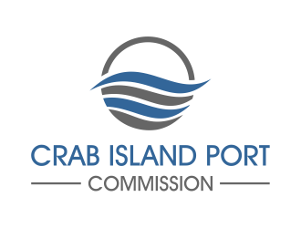 Crab Island Port Commission logo design