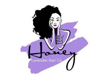 Honey Lavender Hair Co. logo design