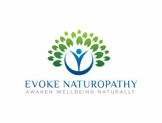 Evoke Naturopathy logo design