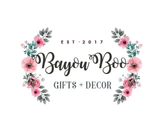 Bayou Boo Gifts and Decor logo design