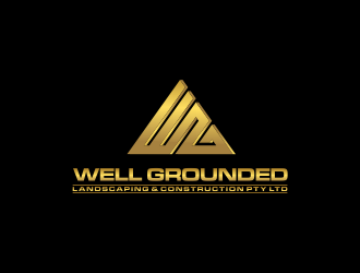 WG / WELL GROUNDED LANDSCAPING & CONSTRUCTION Pty Ltd logo design