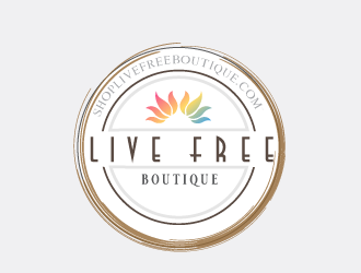 Live Free Boutique logo design
