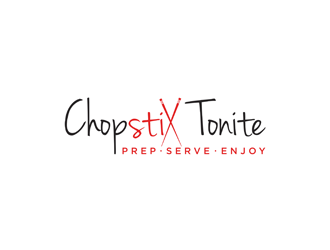 Chopstix Tonite logo design