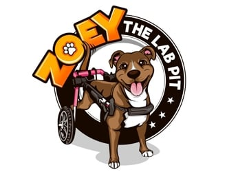 Zoey The Lab Pit logo design
