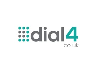 dial4.co.uk logo design