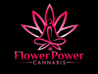 Flower Power Cannabis logo design
