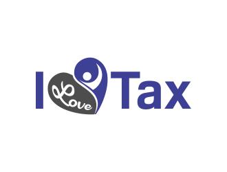 I Love Tax  logo design