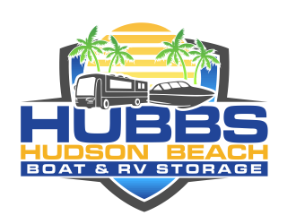 HUBBS Hudson Beach Boat & RV Storage logo design