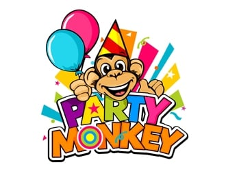 Party Monkey logo design