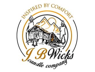 J.B. Wicks Candle Company logo design