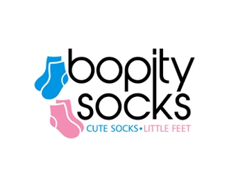 Bopity Socks logo design