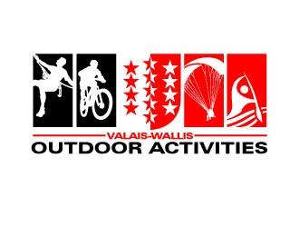 Valais-Wallis Outdoor Association logo design