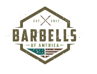 Barbells of America logo design