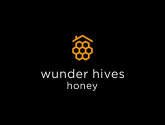 WUNDER HIVES HONEY logo design