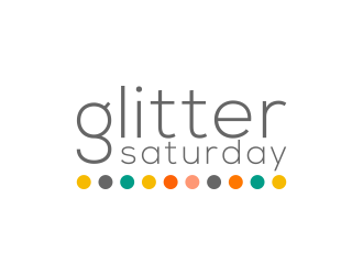 Glitter Saturday logo design