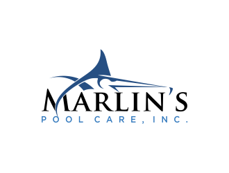 Marlins Pool Care, Inc. logo design