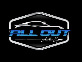 All Out Auto Spa logo design