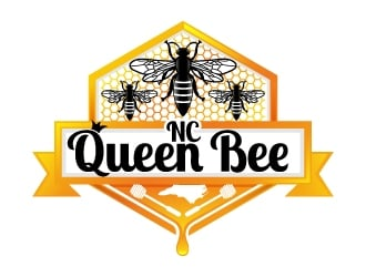 NC Queen Bee logo design