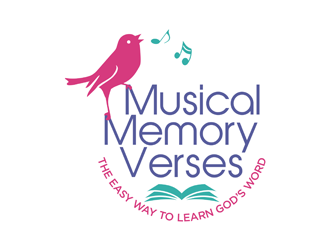 Musical Memory Verses - The Easy Way to Learn Gods Word. logo design