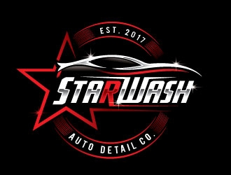 Starwash Auto Detail Co. logo design