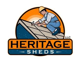 Heritage Sheds LLC logo design