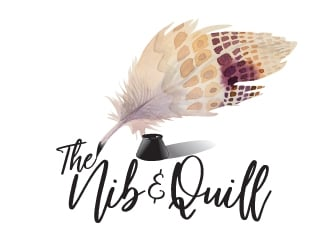 The Nib and Quill logo design