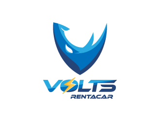VOLTS RENTACAR logo design
